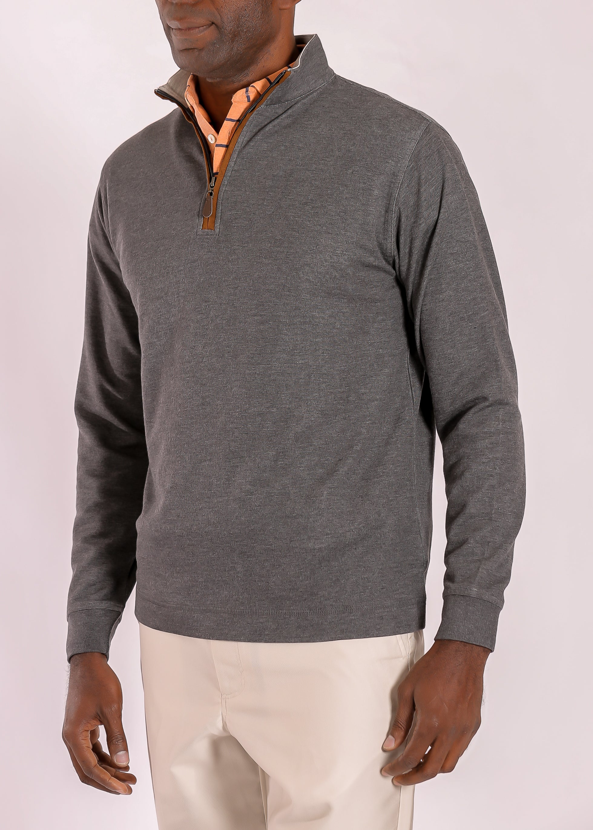 Morgan Soft Touch Quarter Zip - Black Heather