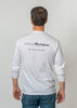 Ocean Washed Long Sleeve T Shirt - White
