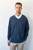High V Pullover - Navy Heather