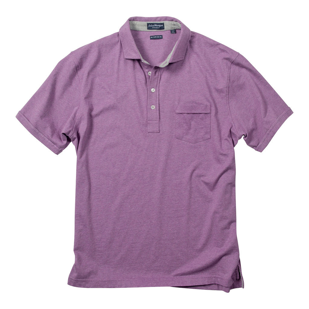 Morgan Luxe Polo with Pocket - Purple Heather