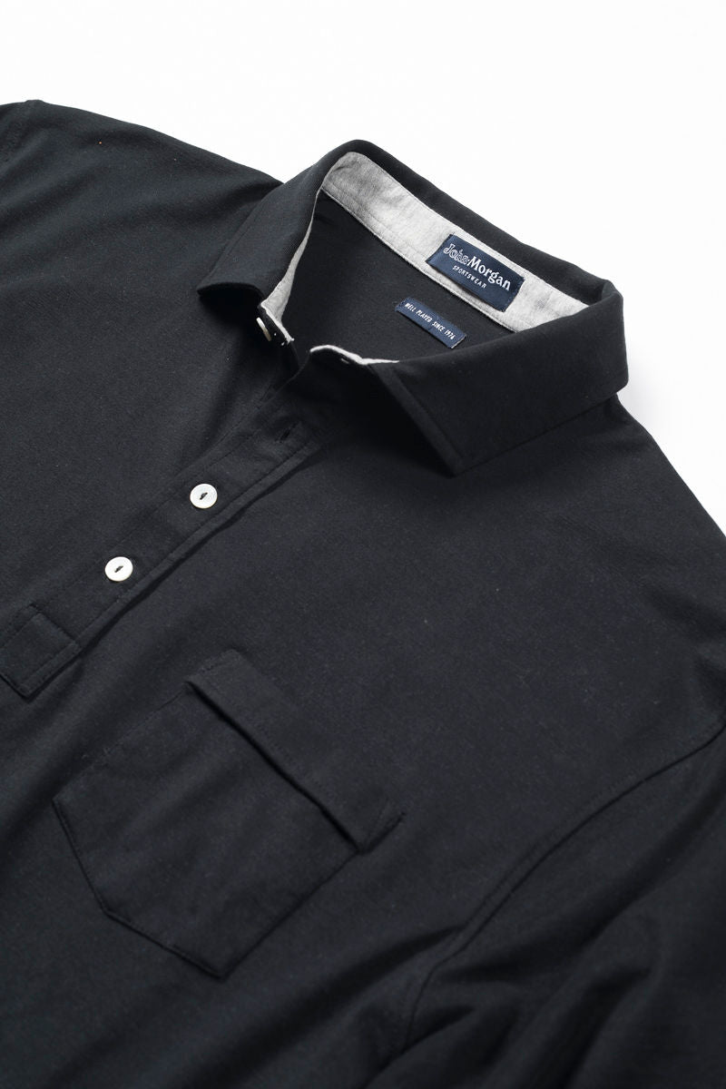 Black Polo Shirt with Pocket