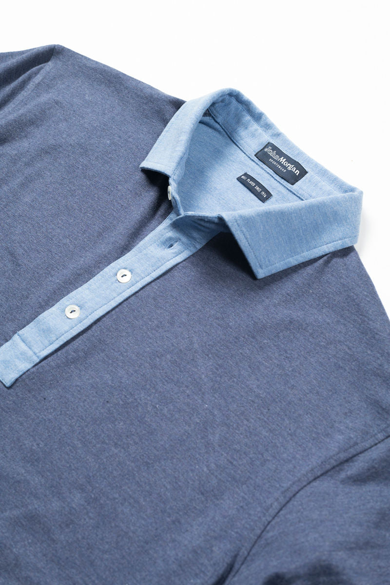 Morgan Polo Solid with Contrast - Yankee Blue