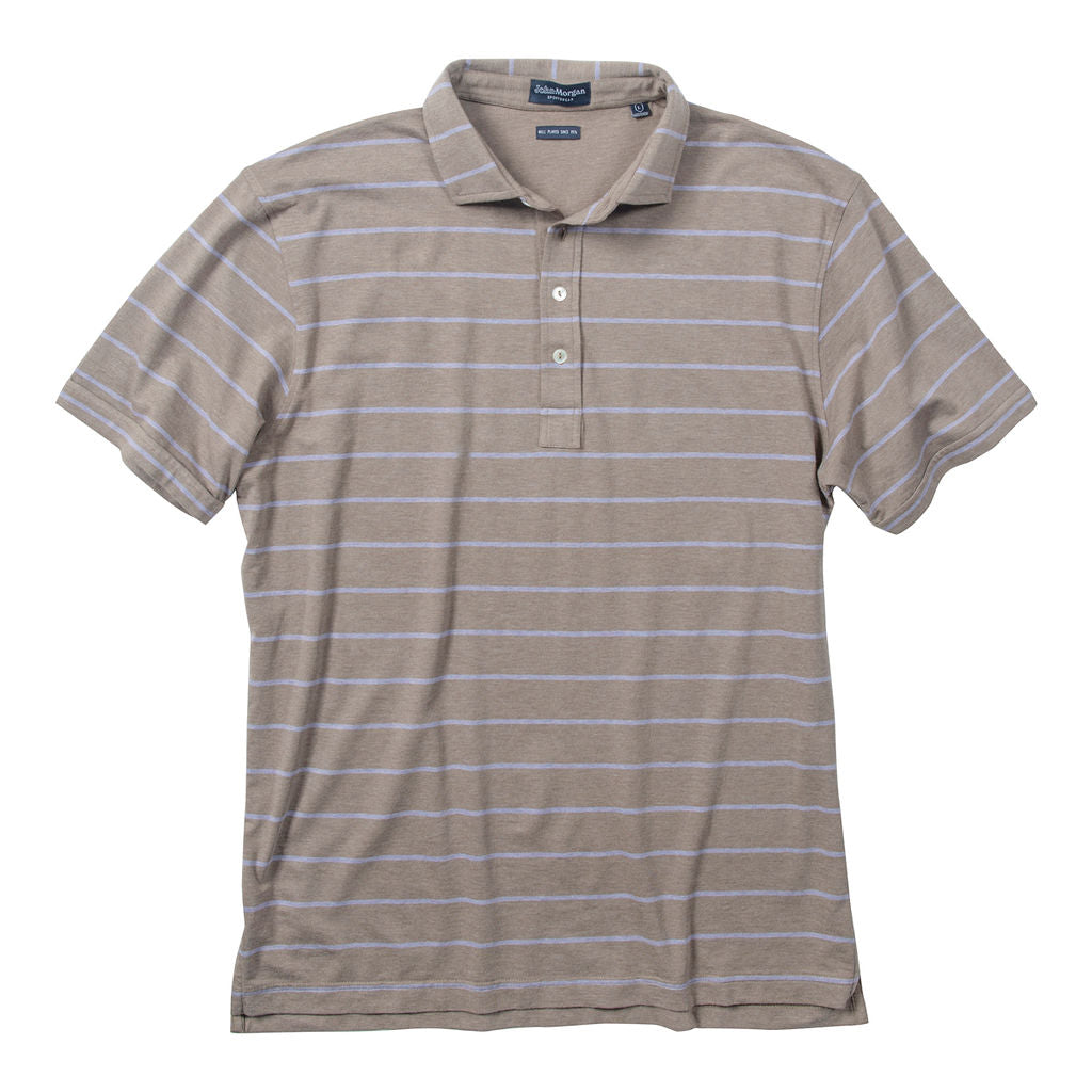 Morgan Polo Classic Wide Stripe - Cork/Violet