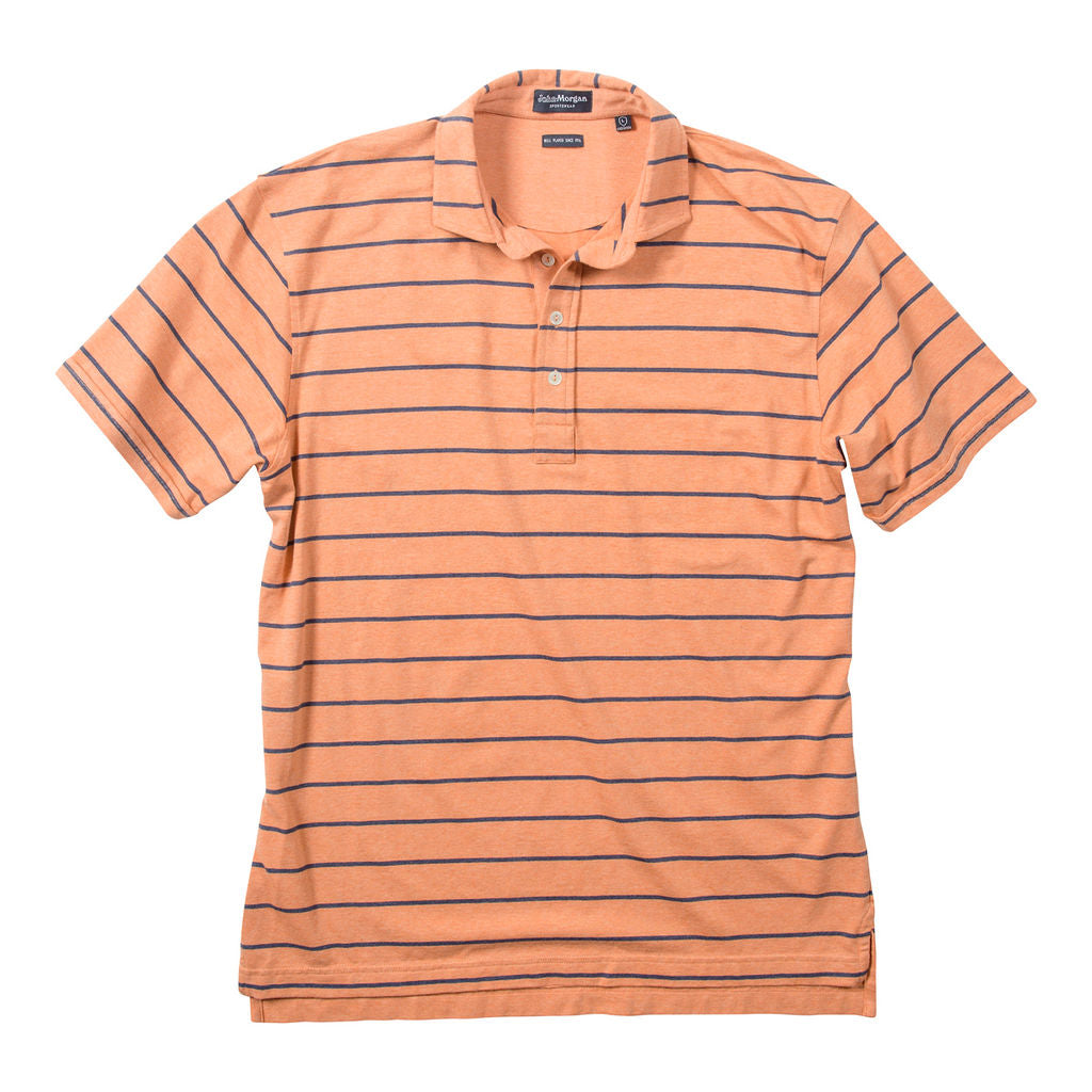 Tate Soft Touch Polo Wide Stripe