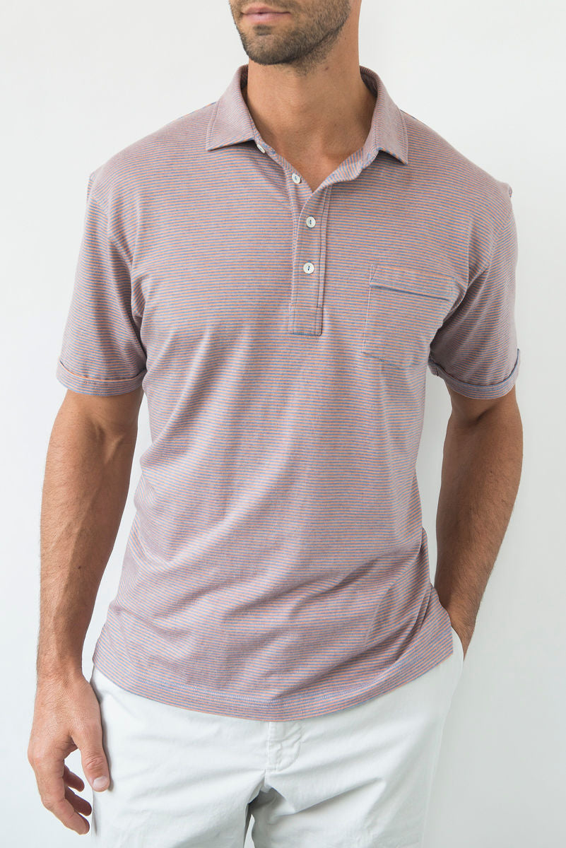 Morgan Polo Classic Even Stripe - Vessel/Dreamside
