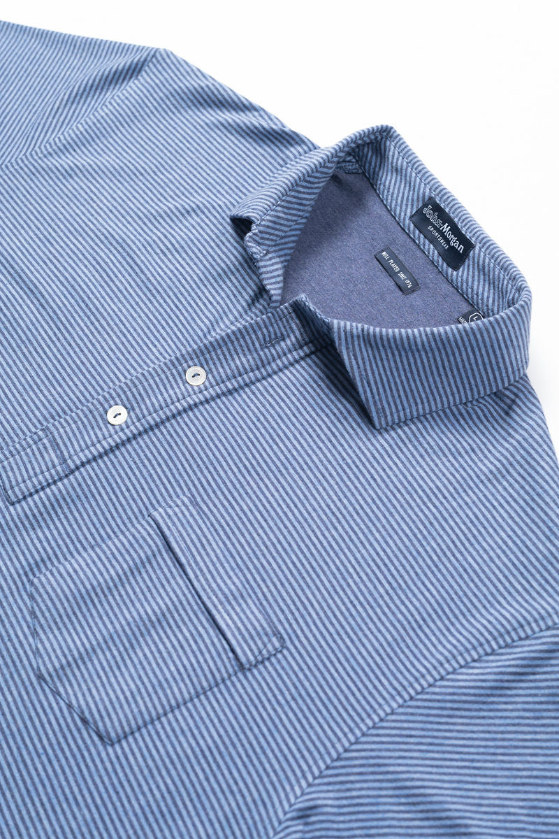 Morgan Polo Classic Even Stripe - Navy