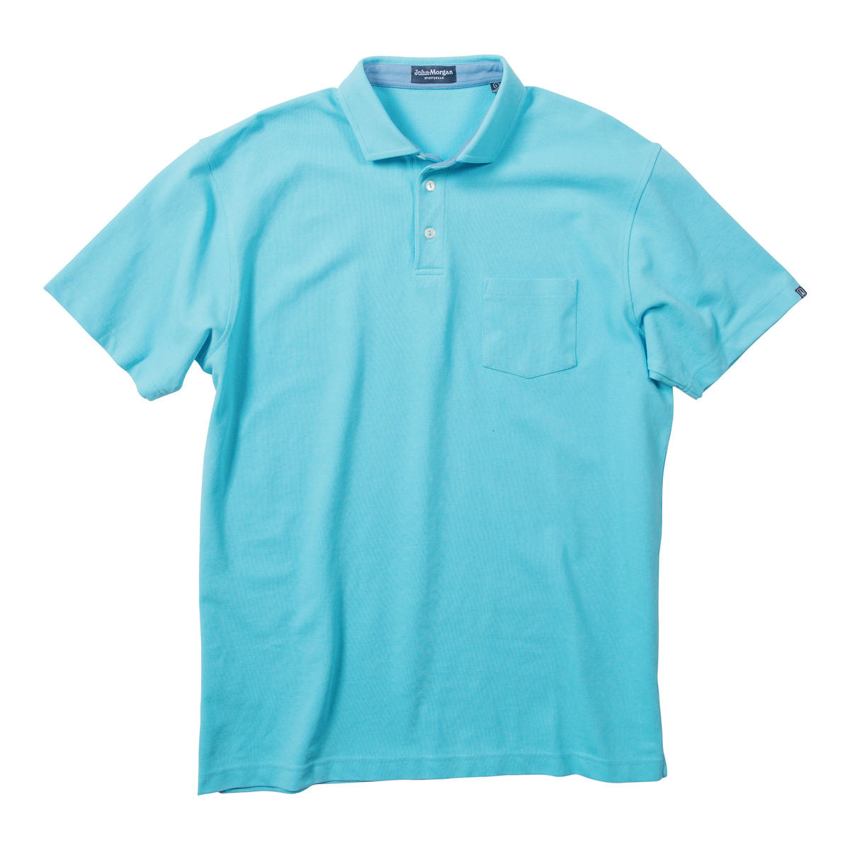 Whisper Vintage Pique Polo with Pocket - Barbados Blue
