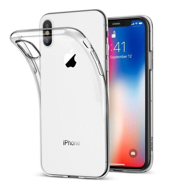 coque transparente en silicone iphone x