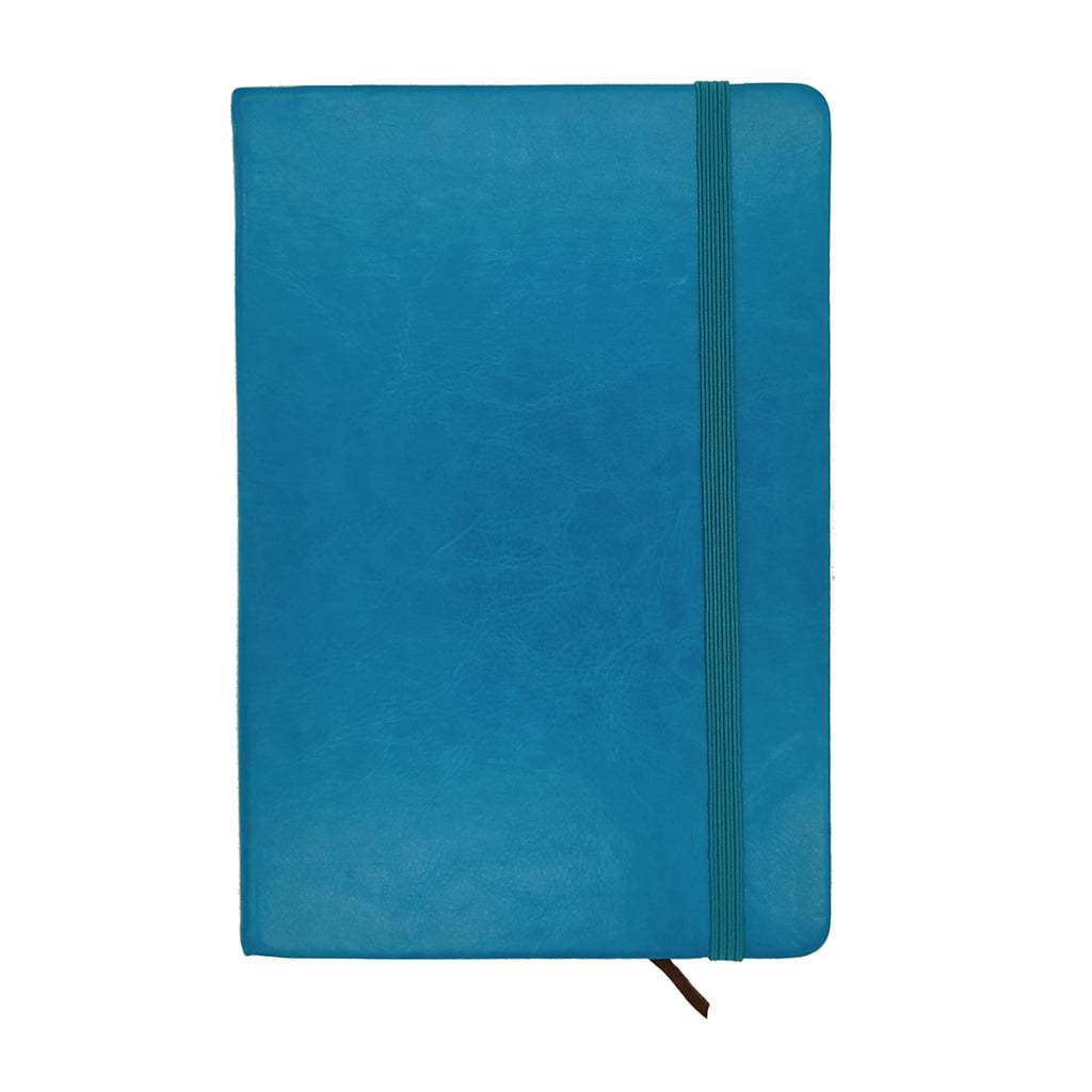 Notes book cuir A5 bleu