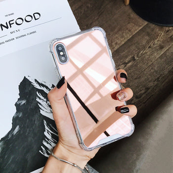 Coque Rose gold Miroir iPhone