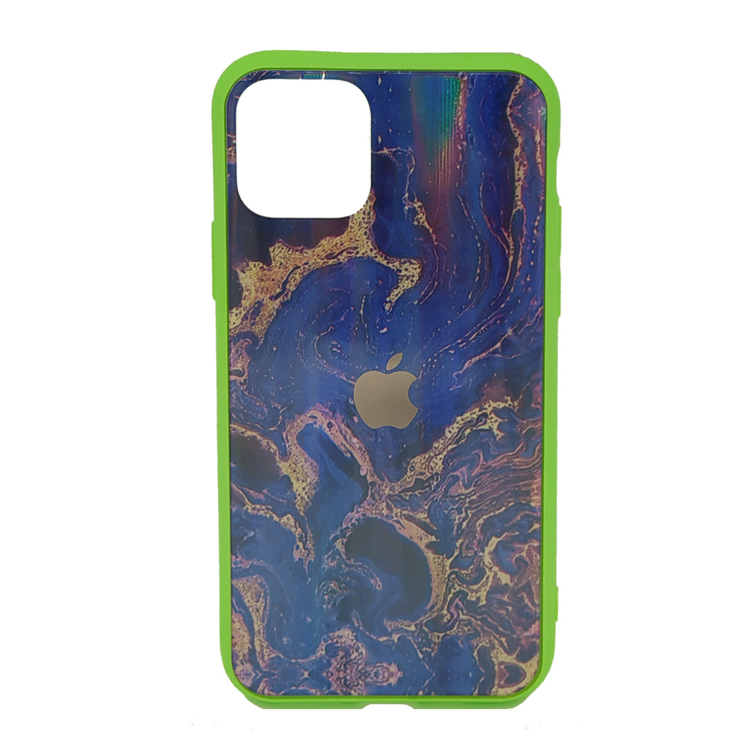 Coque Marbré bleu iPhone