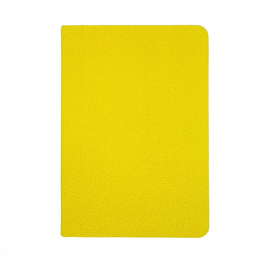 Notes book cuir A5 Jaune