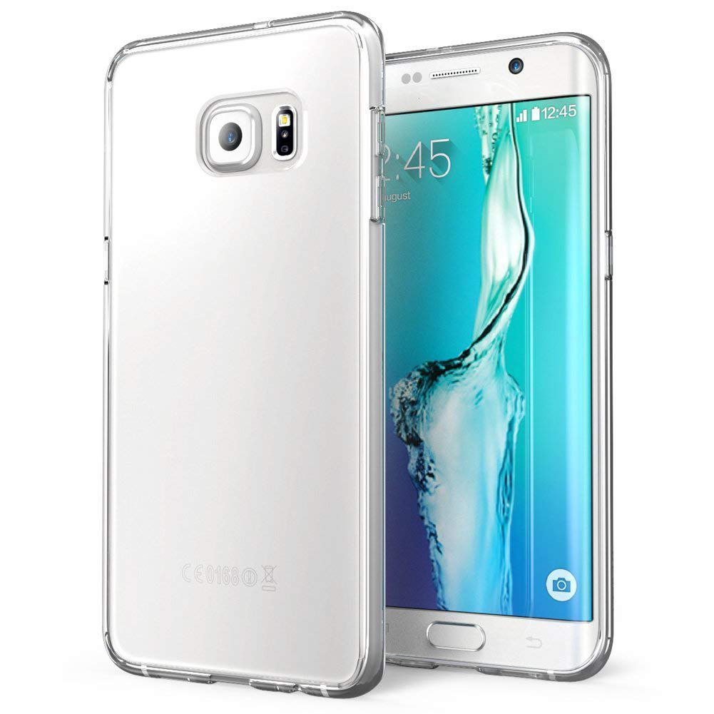 Coque en silicone transparente S6 edge plus