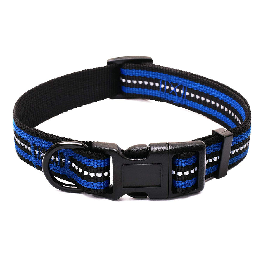 Mile High Life Night Reflective Double Bands Nylon Dog Collar