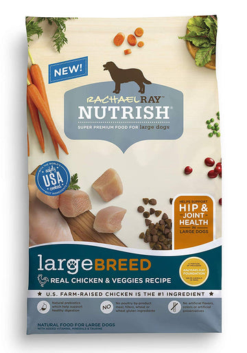 Large Breed Real Chicken & Veggies Recipe Dry Dog Food, 40 Pounds