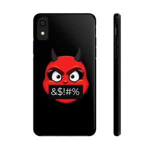 Female Angry Cursing Devil Emoji Case Mate Tough Phone Cases by Bigbadmoji Cell Phones & Accessories Cases
