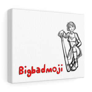 Bigbadmoji - Girl with bat - Canvas Gallery Wraps