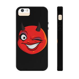 Female Winking Devil Emoji Case Mate Tough Phone Cases by Badmoji Cell Phones & Accessories Cases