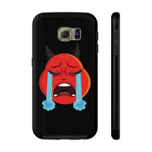 Load image into Gallery viewer, Female Crying Tears Devil Emoji Case Mate Tough Phone Cases by Bigbadmoji Cell Phones & Accessories Cases