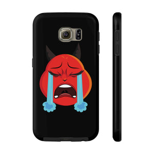 Female Crying Tears Devil Emoji Case Mate Tough Phone Cases by Bigbadmoji Cell Phones & Accessories Cases