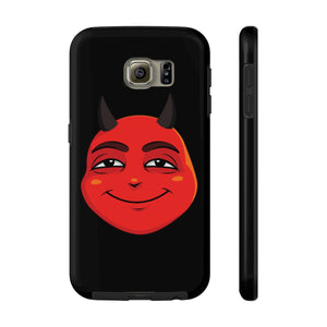 Male Content and Relieved Devil Emoji Case Mate Tough Phone Cases by Badmoji Cell Phones & Accessories Cases