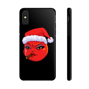Female Christmas 420 Smoking Devil Emoji Case Mate Tough Phone Cases by Badmoji Cell Phones & Accessories Cases