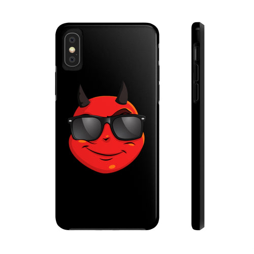 Male Cool Sunglass Devil Emoji Case Mate Tough Phone Cases by Badmoji Cell Phones & Accessories Cases