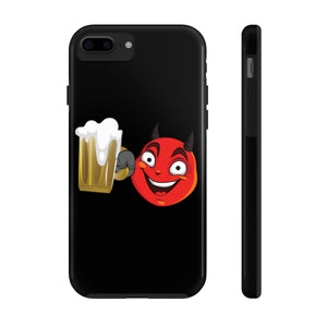 Male Beer Mug Drinking Devil Emoji Case Mate Tough Phone Cases by Badmoji Cell Phones & Accessories Cases