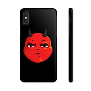 Male Squinting Eyes Devil Emoji Case Mate Tough Phone Cases by Bigbadmoji Cell Phones & Accessories Cases