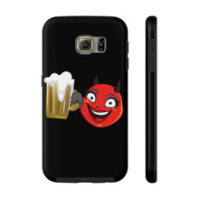 Load image into Gallery viewer, Female Beer Mug Drinking Devil Emoji Case Mate Tough Phone Cases by Badmoji Cell Phones & Accessories Cases Universal Tags: