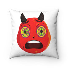 Load image into Gallery viewer, Male Trippy Devil Emoji Faux Suede Square Pillow by Bigbadmoji - Home Décor - Throw Pillows