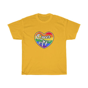 """Queer AF"" Heavy Cotton T-shirt 
