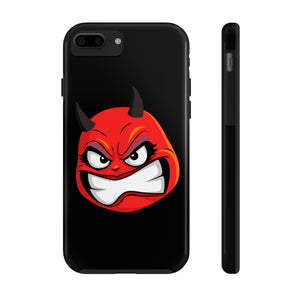 Female Angry Devil Emoji Case Mate Tough Phone Cases by Badmoji Cell Phones & Accessories Cases