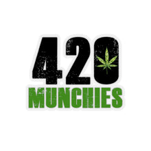 "Load image into Gallery viewer, ""420 Munchies"" Kiss-Cut Stickers"