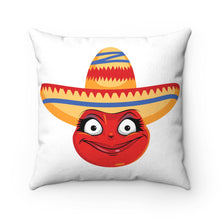 Load image into Gallery viewer, Female Cinco De Mayo Mexican Emoji Faux Suede Square Pillow by Bigbadmoji Home Décor Throw Pillows