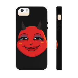 Female Content and Relieved Devil Emoji Case Mate Tough Phone Cases by Bigbadmoji Cell Phones & Accessories Cases