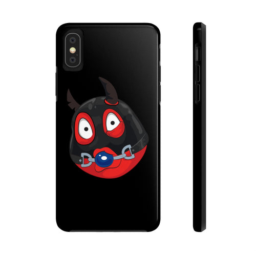 Male Ball Gag BDSM Kinky Dominatrix Devil Emoji Case Mate Tough Phone Cases by Bigbadmoji Cell Phones & Accessories Cases