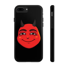 Load image into Gallery viewer, Male Content and Relieved Devil Emoji Case Mate Tough Phone Cases by Badmoji Cell Phones & Accessories Cases