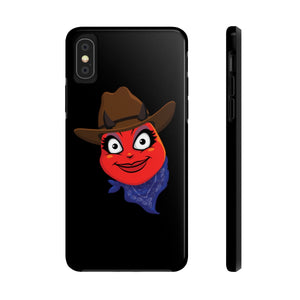 Female Country Cowgirl Hat Devil Emoji Case Mate Tough Phone Cases by Badmoji Cell Phones & Accessories Cases