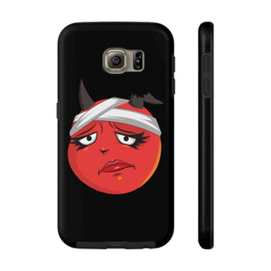 Female Bandaged Hurt Devil Emoji Case Mate Tough Phone Cases by Badmoji Cell Phones & Accessories Cases