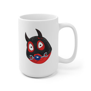 Male Ball Gag BDSM Kinky Dominatrix Devil Emoji White Ceramic Mug by Bigbadmoji Glassware & Drinkware Novelty Coffee Mugs