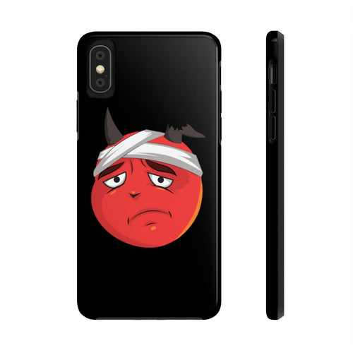 Male Bandaged Hurt Devil Emoji Case Mate Tough Phone Cases by Badmoji Cell Phones & Accessories Cases