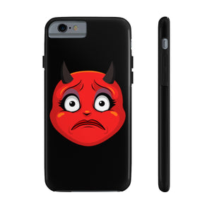 Female Concerned Worried Devil Emoji Case Mate Tough Phone Cases by Bigbadmoji Cell Phones & Accessories Cases