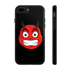 Male Cringing Devil Emoji Case Mate Tough Phone Cases by Badmoji Cell Phones & Accessories Cases