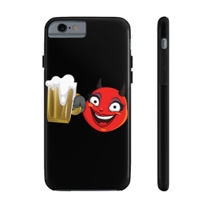 Female Beer Mug Drinking Devil Emoji Case Mate Tough Phone Cases by Badmoji Cell Phones & Accessories Cases Universal Tags: