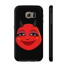 Load image into Gallery viewer, Female Content and Relieved Devil Emoji Case Mate Tough Phone Cases by Bigbadmoji Cell Phones & Accessories Cases