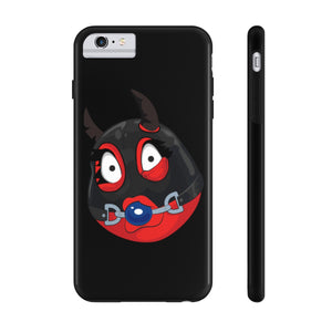 Female Ball Gag BDSM Kinky Dominatrix Devil Emoji Case Mate Tough Phone Cases by Bigbadmoji Cell Phones & Accessories Cases