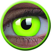 Glow Green Party Contact Lenses