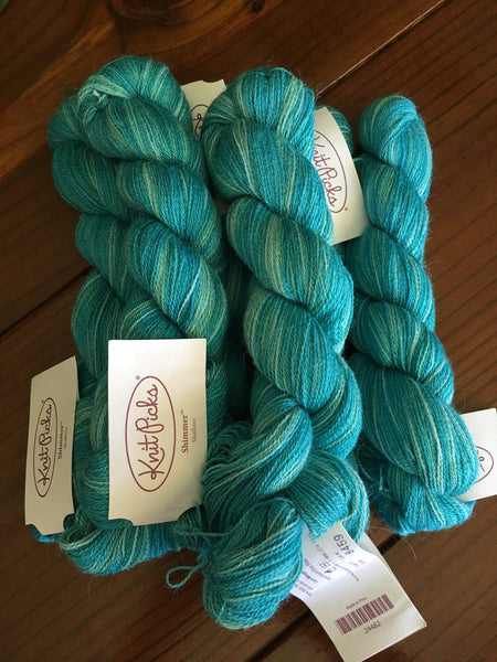 Knit Picks Shimmer Shallows Lace weight 5 hanks 440 Yards Each