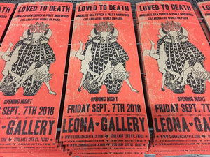 New Exhibition: Loved to Death collaborative work of Annalise Gratovich and Polly Morwood